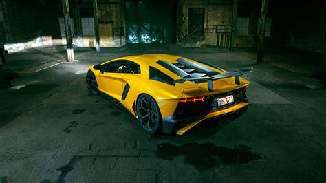 Car Back View Wallpaper by Lamborghini Aventador Lp 750 4 Sv Yellow Supercar Back