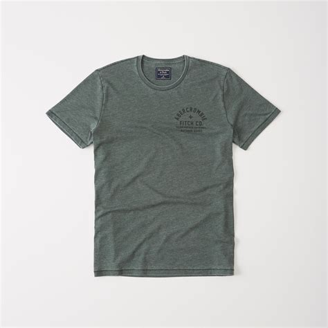 Abercrombie Fitch Mens Logo Graphic lyst abercrombie fitch printed logo graphic in green for