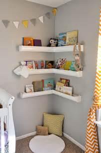 shelves baby room gutter shelves nursery book corner nursery decor