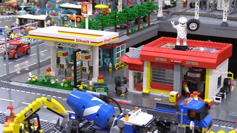 lego shell custom lego shell gas station repair shop tour 2017