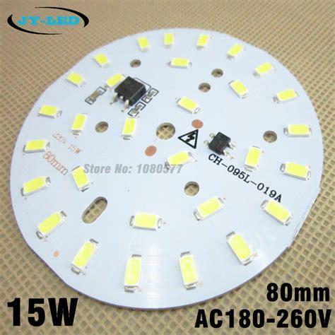 Lu Led Bohlam Hemat 15w 1 10pcs 15w 5730 smd pcb 80mm ac180 260v led aluminum plate