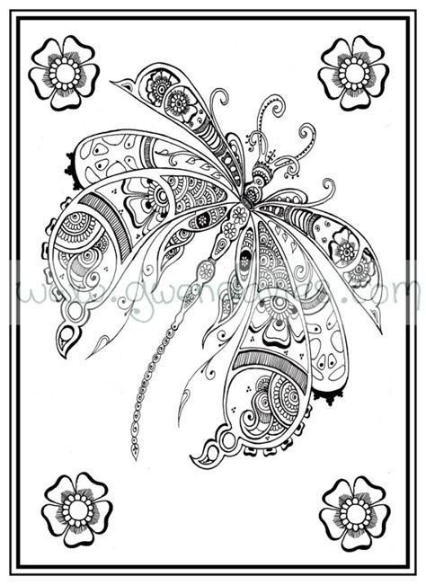 anti stress coloring book pdf free colouring in pdf dragonfly henna zen mandalas