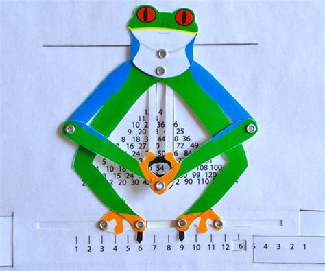 frog pop up card template calculating frog the best paper mechanical calculator