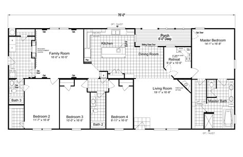 floorplan or floor plan the pecan valley v extra wide ml34764p manufactured home