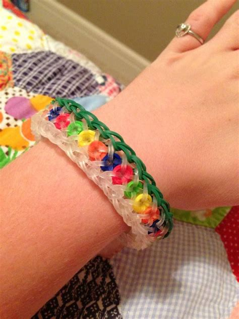 make loom band hair pins creative olivia hammock made this bracelet using clear