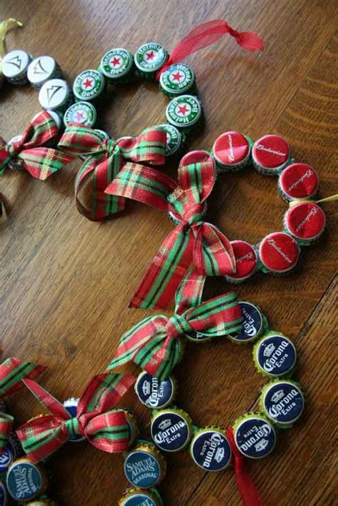 bottle cap ornaments easy recycled decorations and ornaments