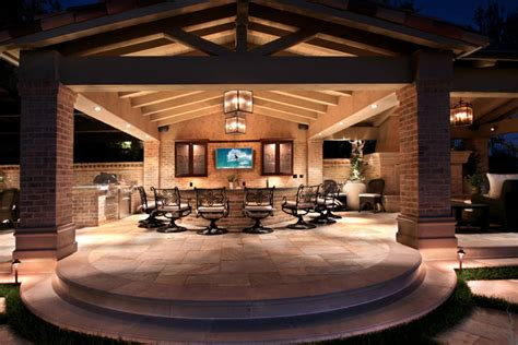 backyard entertainment area creating a focal point in your outdoor space