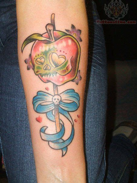candy apple tattoo skull apple would to do