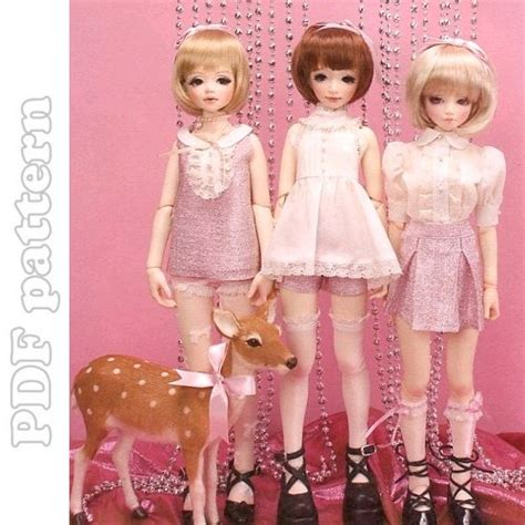 pattern bjd clothes 3 msd girl tops and bottoms outfit bjd sewing pattern pdf