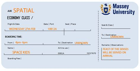 Spatial Design Massey Plane Ticket Template