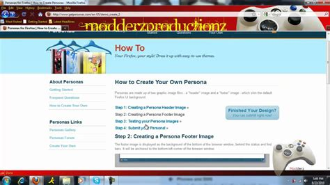 firefox themes how to make how to make a firefox persona theme youtube
