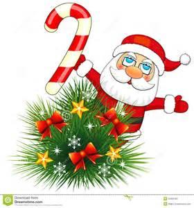 small fir and santa claus stock photos image 34905303