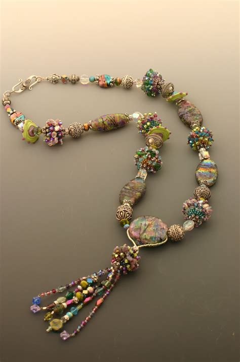 handmade glass bead necklace handmade glass and