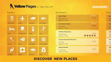 Yellow Pages Find Yellow Pages For Windows 8 10 Gets Improved Performance For Canadian Users