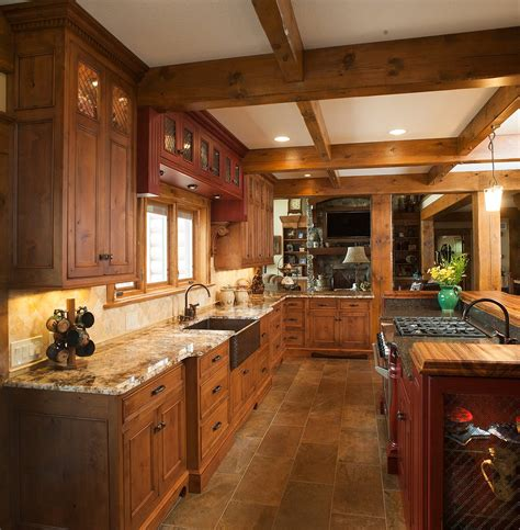 rustic alder wood kitchen cabinets custom kitchen using knotty alder wood kitchens