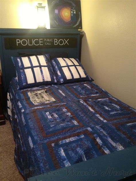 dr who comforter once won t hurt tardis bed part i the bed frame