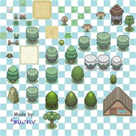 saurav's sprites and tilesets project the pokécommunity