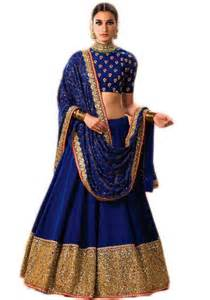 Buy Home Decor Online Buy Blue Embroidered Banglori Lehenga With Dupatta Online