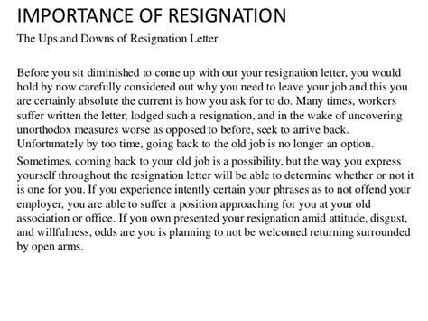 Resignation Letter Vacation Time Resignation Letter
