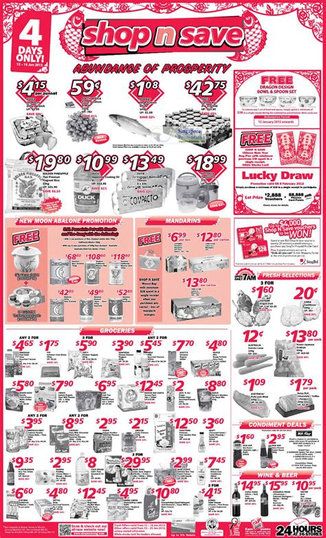 Shop N Save Gift Card Promotion - shop n save abalone groceries promotion offers 12 15 jan 2012