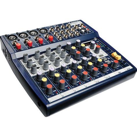 Mixer Audio Soundcraft soundcraft notepad 124fx compact 8 input audio mixer rw5795us