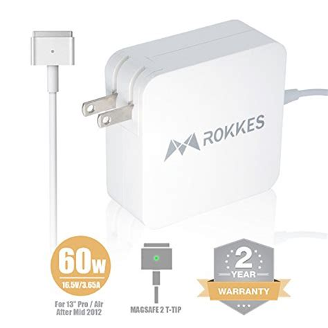 Best Seller Magsafe 2 60 Watt macbook pro retina charger adapter 60w magsafe 2 t tip replacement power adapter for apple