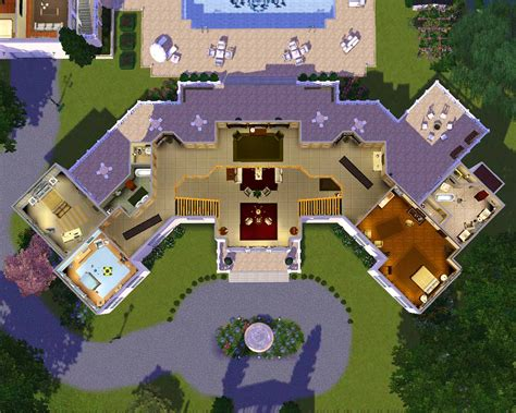 Sims 3 House Plans Mansion Mod The Sims The Manor Estate
