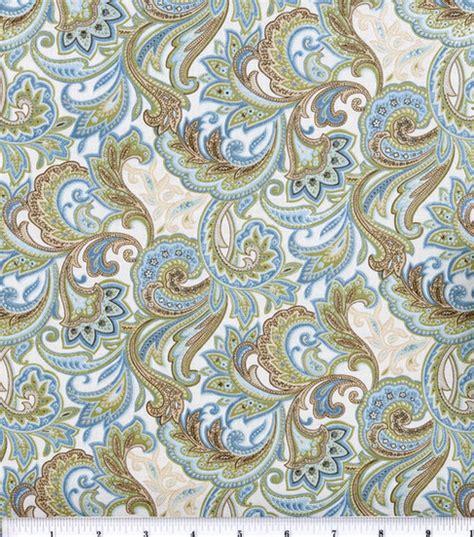 paisley fabric for curtains keepsake calico fabric blue beige paisley jo ann
