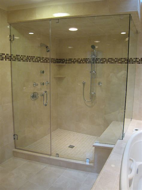 how to install a frameless glass shower door frameless showers heavy glass showers sales and installation