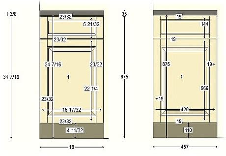 Typical Door Figure B Diagram Of Clear Opening Quot Quot Sc Quot 1 Quot St Custom Size Cabinet Doors
