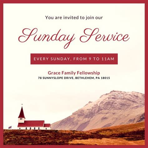 free church invitation cards templates customize 390 church invitation templates canva