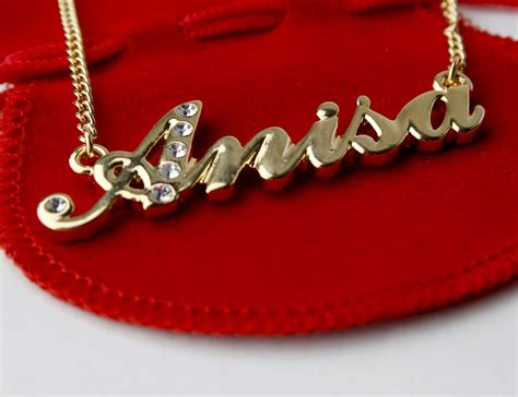 Anisa Gold 18 Karat Gold Plated Name Necklace Anisa