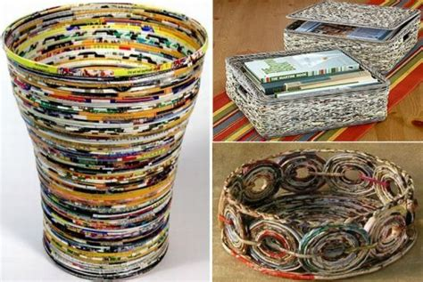 Wonderfull Recycled Ls Ideas A Wonderful And Colourful Basket Made From Magazines Isn T It Just A Great Idea Useful
