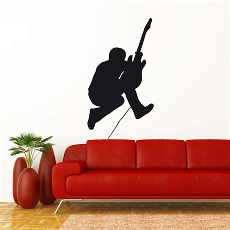 Guitar Wall Stickers guitar solo wall sticker wall chimp uk