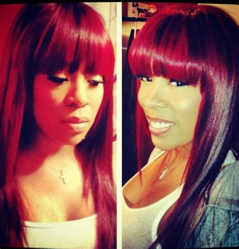 k michelle hairstyles pictures k michelle love her red hair pinterest her hair