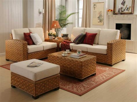 Contemporary Room Design Ideas Indoor And Rattan Living Living Room And Dining Room Sets