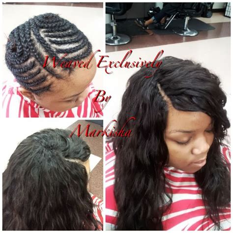 invisible braids front with sew in hairstyles wet and wavy sew in with invisible part www pixshark com