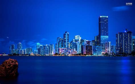 miami city skyline at night miami skyline at night wallpaper wallpaper