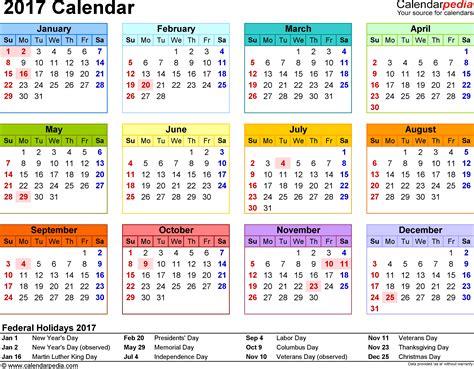 2018 calendar at a glance printable printable editable blank