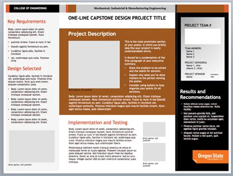 Engineering Poster Template 2014 Graduate Research Expo Poster Guidelines Mechanical Industrial And Manufacturing