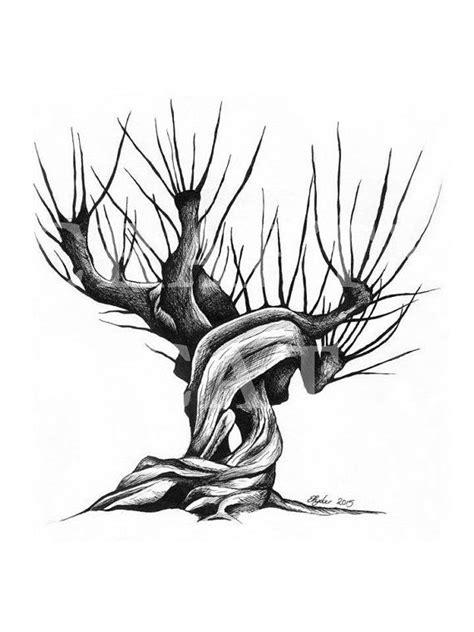 whomping willow tattoo harry potter whomping willow pen and ink drawing digital