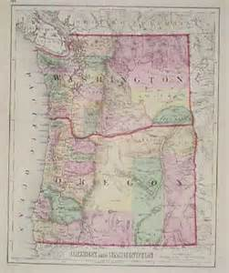 washington and oregon map prints washington page