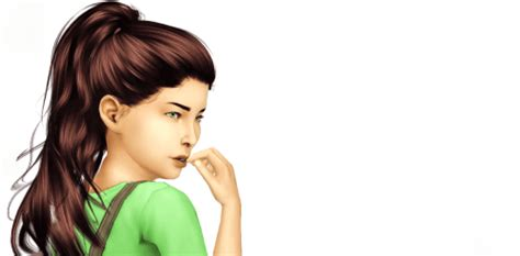 ponytailsims 4 child spring4sims high ponytail hair for the sims 4