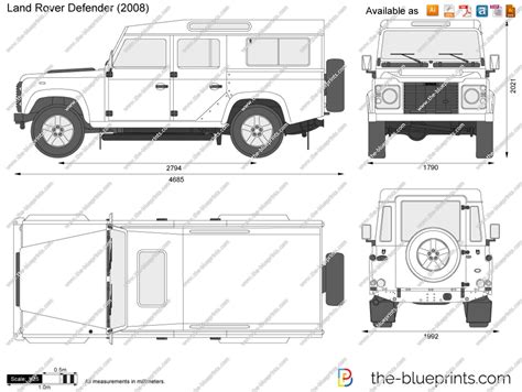 land rover defender vector land rover defender vector drawing