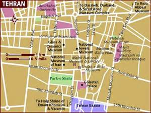 teran map map of tehran