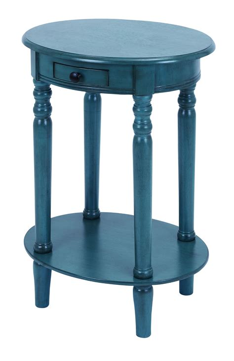 mahogany accent table saapni com classic accent table with mahogany aqua blue