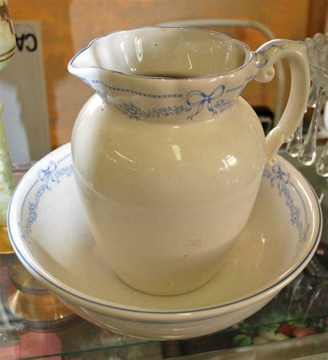 bathroom jug and bowl set pitcher and bowl english bath set