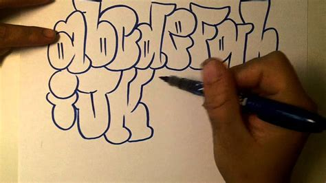 how2art how to draw graffiti alphabet throwies youtube
