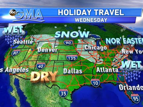 travel weather map usa travel weather map