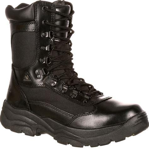 rocky fort s 8 inch black waterproof work boots